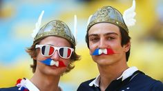 France fans enjoy the atmosphere prior to the 2014 FIFA World Cup Brazil Quarter Final match between France and Germany at Maracana on July ...