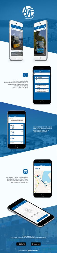 Arriva ASF, powered by Neosperience, is the perfect app to organize your trip with public transportation and discover the beauty of Como and its enchanting surroundings.