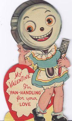 Anthropomorphic Mechanical Valentine Card Vintage