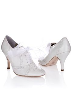 Olivia Vintage Wedding Shoes - £150 i like these too