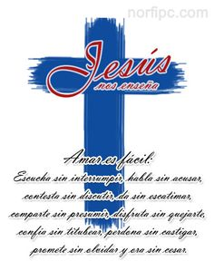 Jesús nos enseña a amar, es fácil