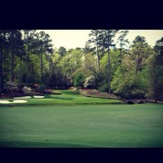 Amen corner at The Masters Golf Tournament in Augusta, GA.