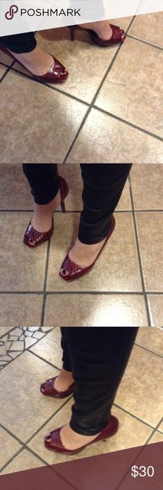 Jessica Simpson Red Snakeskin Pumps Size 8 Super fun and sexy Jessica Simpson red snakeskin pumps in women's size 8. Great condition and minimal wear. B1 Jessica Simpson Shoes Heels