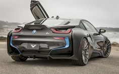 Download wallpapers bmw i8, 2017, vorsteiner, sports electric cars, supercar, German cars, tuning i8, BMW