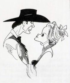 """""""High Noon"""" : Gary Cooper (Marshal Will Kane), Grace Kelly (Amy Fowler Kane) Pop Art, Ligne Claire, Laurel And Hardy, Art Students League, Caricature Drawing, High Noon, Celebrity Caricatures, Black And White Portraits, Grace Kelly"""