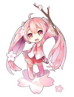 Sakura Miku chibi
