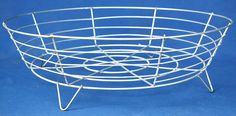 """10"""" shallow wire basket with legs - 3"""" deep"""