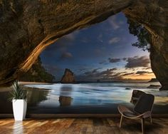 Cathedral Cove Mural Wallpaper Wallpaper Wall Murals