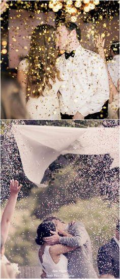 Weddings: glitter wedding exit toss / www. Wedding Send Off, Wedding Exits, Wedding Goals, Wedding Wishes, Fall Wedding, Our Wedding, Wedding Photos, Dream Wedding, Wedding Rice
