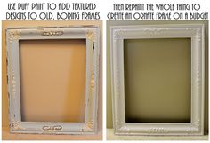 Create a vintage-looking frame using puff paint