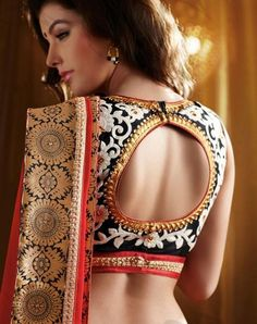 Now give fashion twist to your sareee blouse design and got some new collection of wedding saree blouse design. We are also sharing Embellished Blouse Designs also. Below Check all the Collection of Saree Blouse Designs.