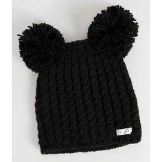 Neff Jade Beanie ($28) ❤ liked on Polyvore featuring accessories, hats, black, pom beanie, neff, neff beanie, pom pom beanie and pom pom beanie hat