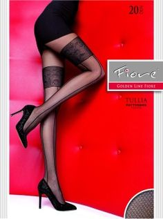 63be43378 These 20 denier patterned tights by Polish brand Fiore are ideal for your  wardrobe. Featuring