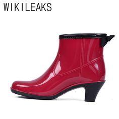Pas cher Wikileaks Femmes Hiver de Haute Qualité Cheville Rouge Bowtie Rainboots Plus La Taille Chaussures Femme Solide Main PVC Étanche Neige Bottes, Acheter  Bottines de qualité directement des fournisseurs de Chine:            bottes de pluie, bottes de pluie femmes, bottes de pluie, bottes de pluie hunter, arc en ciel,,
