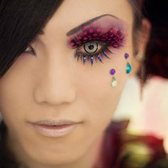 Crazy Contact Lenses!   I buy mine at: http://www.fantasmagoria.eu/accessories/cosmetics-makeup/contact-lenses
