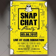 Snap Chat Party - Premium Flyer PSD Template. #cameraparty #club #duckface #edm #electro #instagram #night #selfie #smartphone #snapchat #snapdate  DOWNLOAD PSD TEMPLATE HERE: https://www.psdmarket.net/shop/snap-chat-party-premium-flyer-psd-template/  MORE FREE AND PREMIUM PSD TEMPLATES: https://www.psdmarket.net/shop/