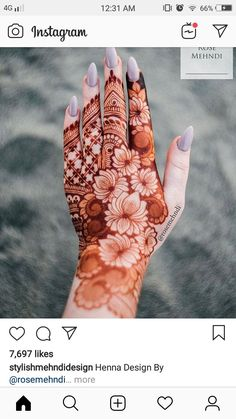 30 Lotus Mehndi Designs For Your Gorgeous Henna Design Mehndi Designs Finger, Rose Mehndi Designs, Henna Art Designs, Mehndi Designs For Girls, Stylish Mehndi Designs, Dulhan Mehndi Designs, Mehndi Design Pictures, Wedding Mehndi Designs, Mehndi Designs For Fingers