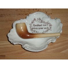 Edwardian Victoria Carlsbad Porcelain Pipe Dish Listing in the Art Nouveau 1890s-1919,Date-Lined Ceramics,Porcelain, Pottery & Glass Category on eBid United Kingdom