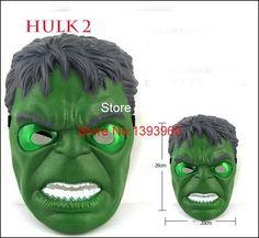 Glowing superhero mask