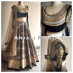 Lehenga by Aanjali mahtani Indian Bridal Wear, Indian Wedding Outfits, Pakistani Outfits, Indian Outfits, Indian Clothes, Indian Attire, Indian Ethnic Wear, Saris, Indian Lehenga