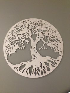 """Round Tree of Life industrial metal wall art 24"""" by alkemymetal on Etsy https://www.etsy.com/listing/174522063/round-tree-of-life-industrial-metal-wall"""
