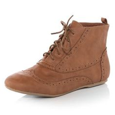 Tan brogue boots - Boots - View All Shoes - Shoes