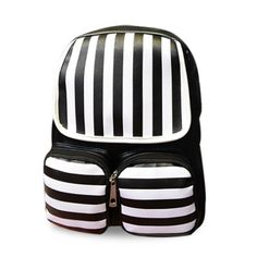 striped backpack| $17.49  nu goth pastel goth grunge goth fachin backpack bag accessories under20 under30 rosegal free shipping striped