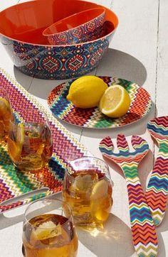 Bright color picnic essentials.