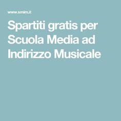Spartiti gratis per Scuola Media ad Indirizzo Musicale