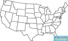 USA + Canada vector map printable Road map, GPS correct (Mercator ...