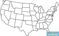 Free US Map Clip Art of Us map usa map outline clipart dromhji top image for your personal projects, presentations or web designs.