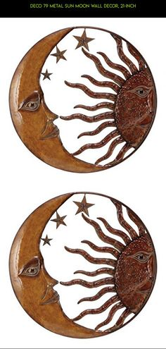 Deco 79 Metal Sun Moon Wall Decor, 21-Inch #parts #gadgets #technology #shopping #hanging #racing #decor #plans #fpv #tech #drone #outdoor #camera #products #kit