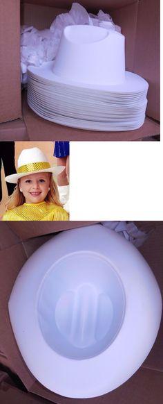 29111c74faaf6 Dance Accessories 152358  New Box 2 Dozen Dance Costume Plastic White Cowboy  Hats Child Size Velourfinish -  BUY IT NOW ONLY   32.99 on eBay!
