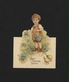 'Best Easter Wishes...' Easter Card. 19th century
