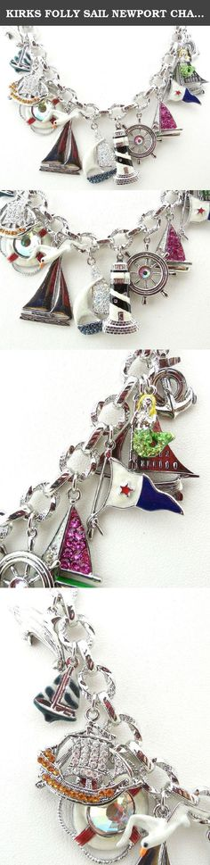 "KIRKS FOLLY SAIL NEWPORT CHARM NECKLACE SILVERTONE ~~NEW RELEASE~~. ~~NEW RELEASE ~~~A seaside dream! Magical memories of the seashore come together on the whimsical ""Sail Newport Charm Necklace"". A collection of enchanted nautical charms are embellished with twinkling crystals and colorful hand-enameled details. Check to see a fleet of shimmering sailboats, a captain's wheel, a life saver and an anchor to name a few. A mythical mermaid, a graceful dolphin and a lone seagull complete the..."