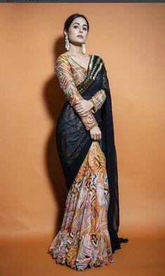 Sari Blouse Designs, Fancy Blouse Designs, Dress Designs, Fancy Sarees, Party Wear Sarees, Bridesmaid Saree, Wedding Bridesmaids, Sarees For Girls, Indian Fashion Dresses