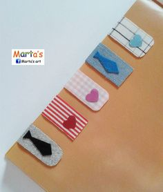 fabric magnetic bookmarks