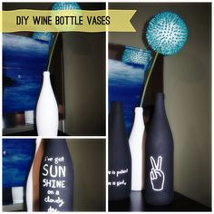Wine Bottle Upcycle at Saved By Love Creations