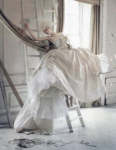 deprincessed: Stella Tennant in 'Lady Grey' by Tim Walker for Vogue Italia March 2010 (couture supplement)