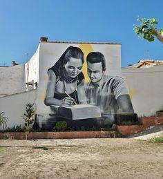 """Xolaka, """"La enseñanza"""" for Graffitea.cheste 2018 in Cheste, Spain, 2018"""