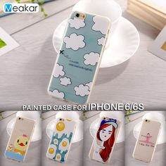Painted Pattern Soft TPU Silicon 4.7for iPhone 6s Case For Apple iPhone 6s iPhone 6 s Cell Phone Cover Case