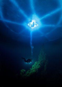 Ice diving in Russia, by Viktor Lyagushkin