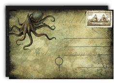 octopus postcards, awesome!