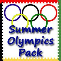 Free Summer Olympics Pack by 3Dinosaurs.com  - Over 100 pages meant for ages 2 to 7.