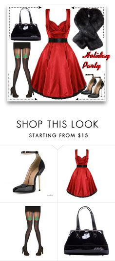 Holiday Party by modern-grease on Polyvore featuring Pretty Polly, Bettie Page and modern