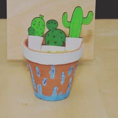A super cute #cactus pot for my home decoration! I just made it together with the girls of @c2_magazine  #c2_craftparty_vol6 #craftparty #myhome #iwontkillthisplant