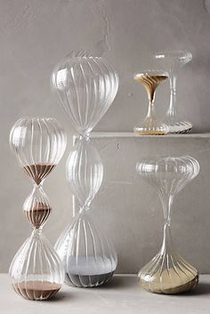Shimmering Sand Hourglass Anthropologie $12.00-$34.00