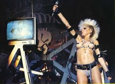 Wendy O Wlliams - Plazmatics  One of the earliest Wasteland Punks.