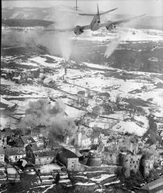 """""""A Bristol Beaufighter TF Mark X of No. 16 Squadron SAAF releases its rocket projectiles at an enemy target in the town of Zuzemberk, Yugoslavia"""" Ww2 Pictures, Ww2 Photos, Ww2 Aircraft, Military Aircraft, Bristol Beaufighter, South East Europe, South African Air Force, Ww2 Planes, Royal Air Force"""