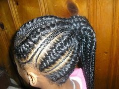 large Cornrow Hairstyles for Black Women | French Braid Hairstyles For Black Girls Ooijq
